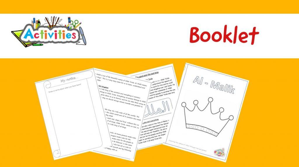Make a Booklet – Al Malik – The King
