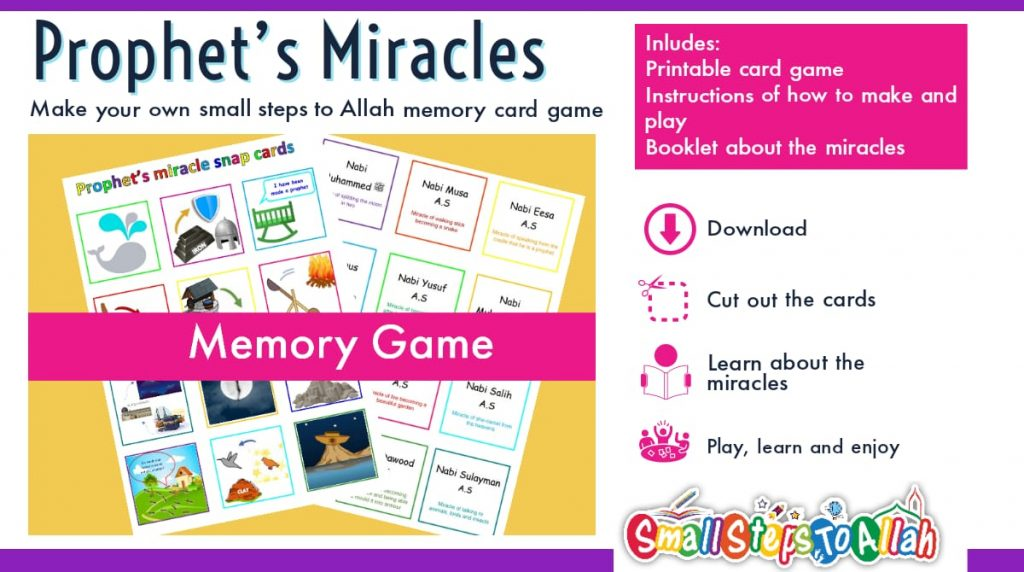 Prophet's Miracles Activity – Snap Cards