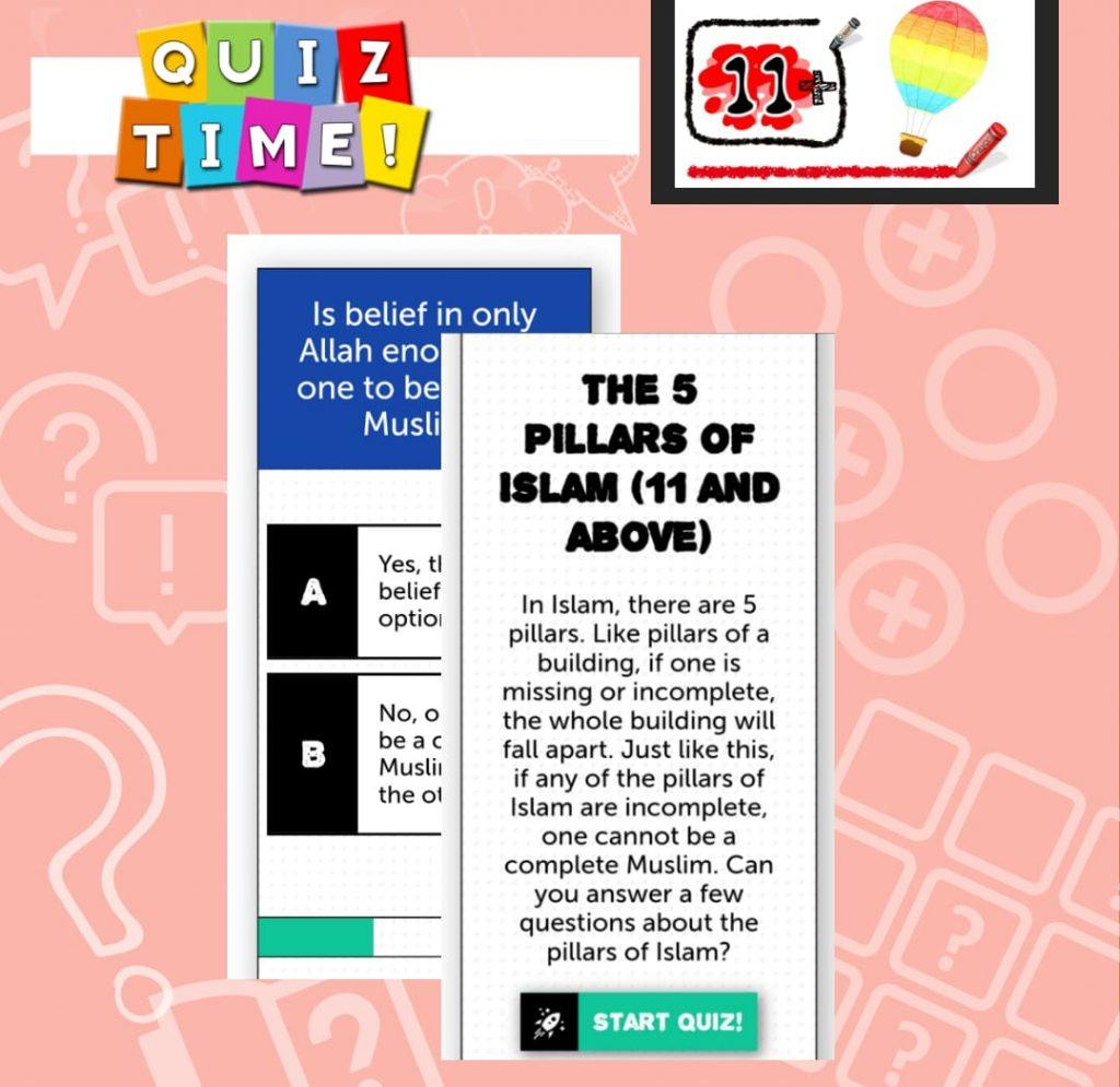 Quiz Time – 5 Pillars 11+