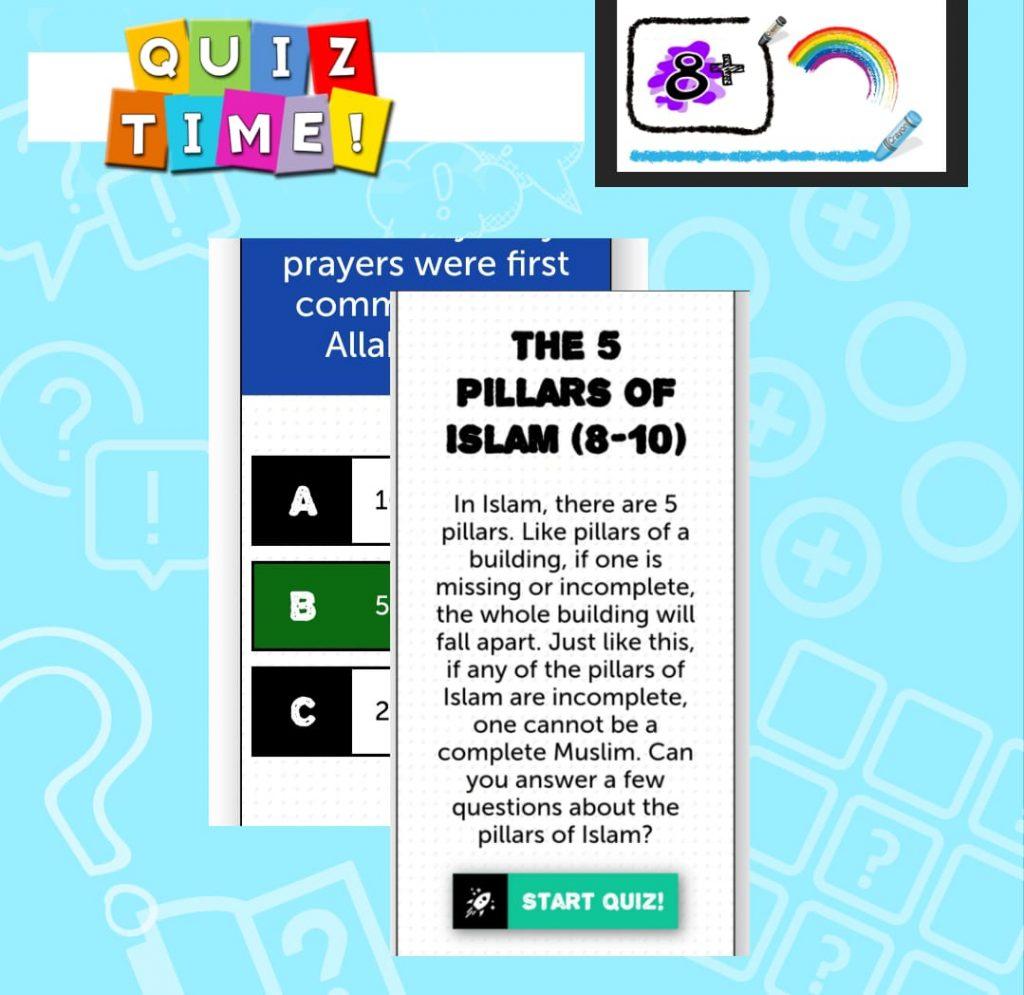 Quiz Time – 5 Pillars 8+