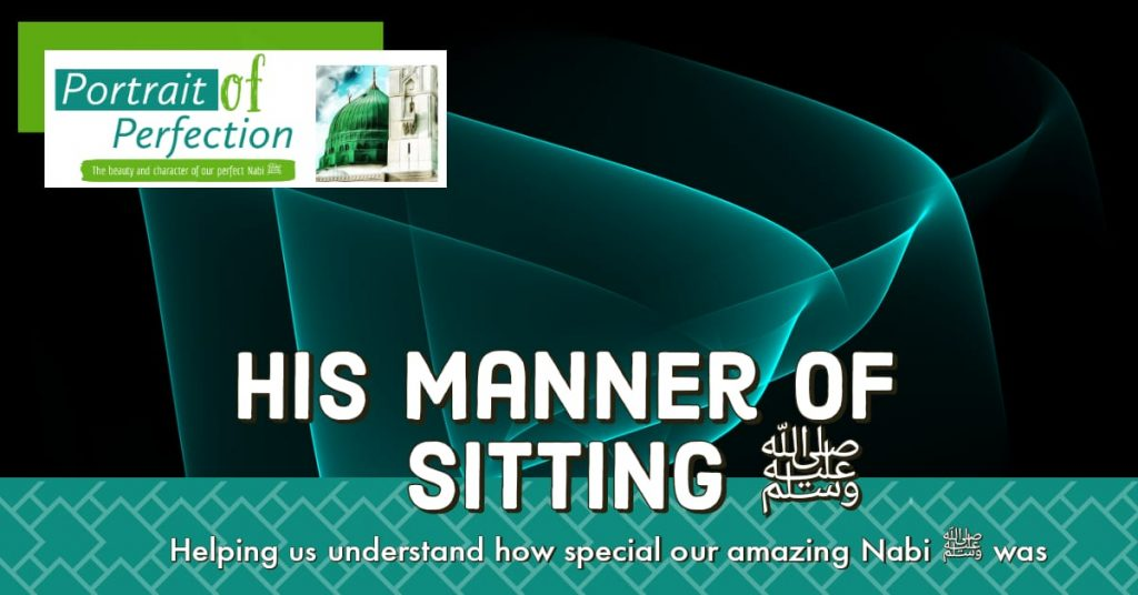 His Manner of Sitting