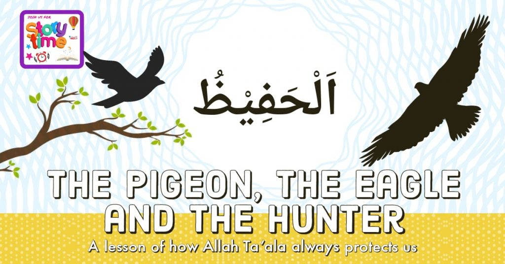 The pigeon, the eagle and the hunter