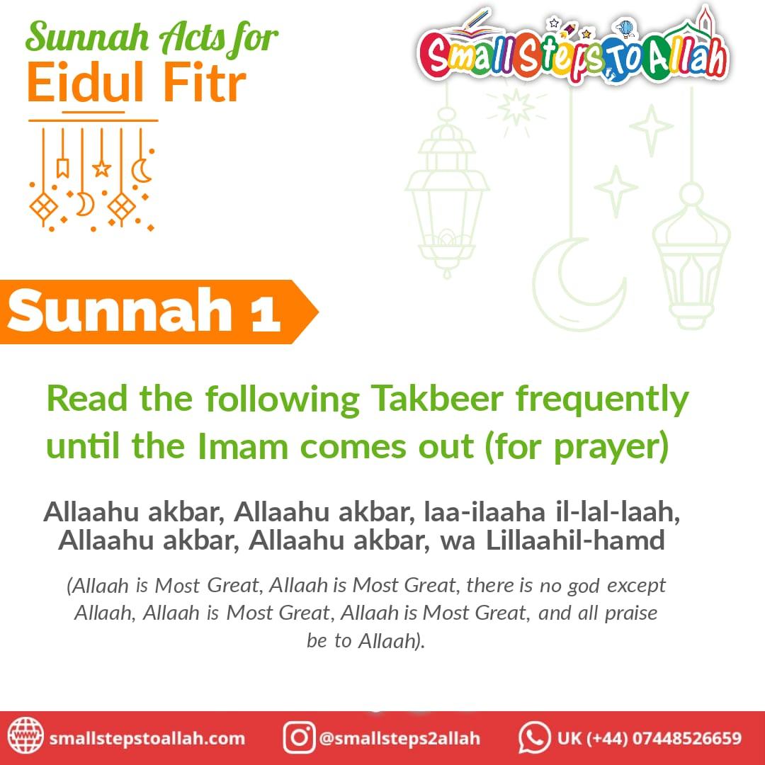 Sunnah 1 Eidul Fitr