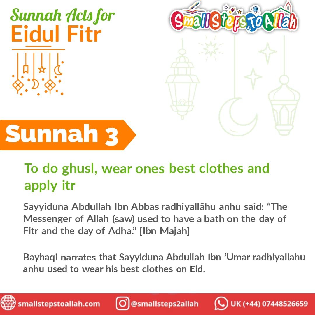 Sunnah 3 Eidul Fitr