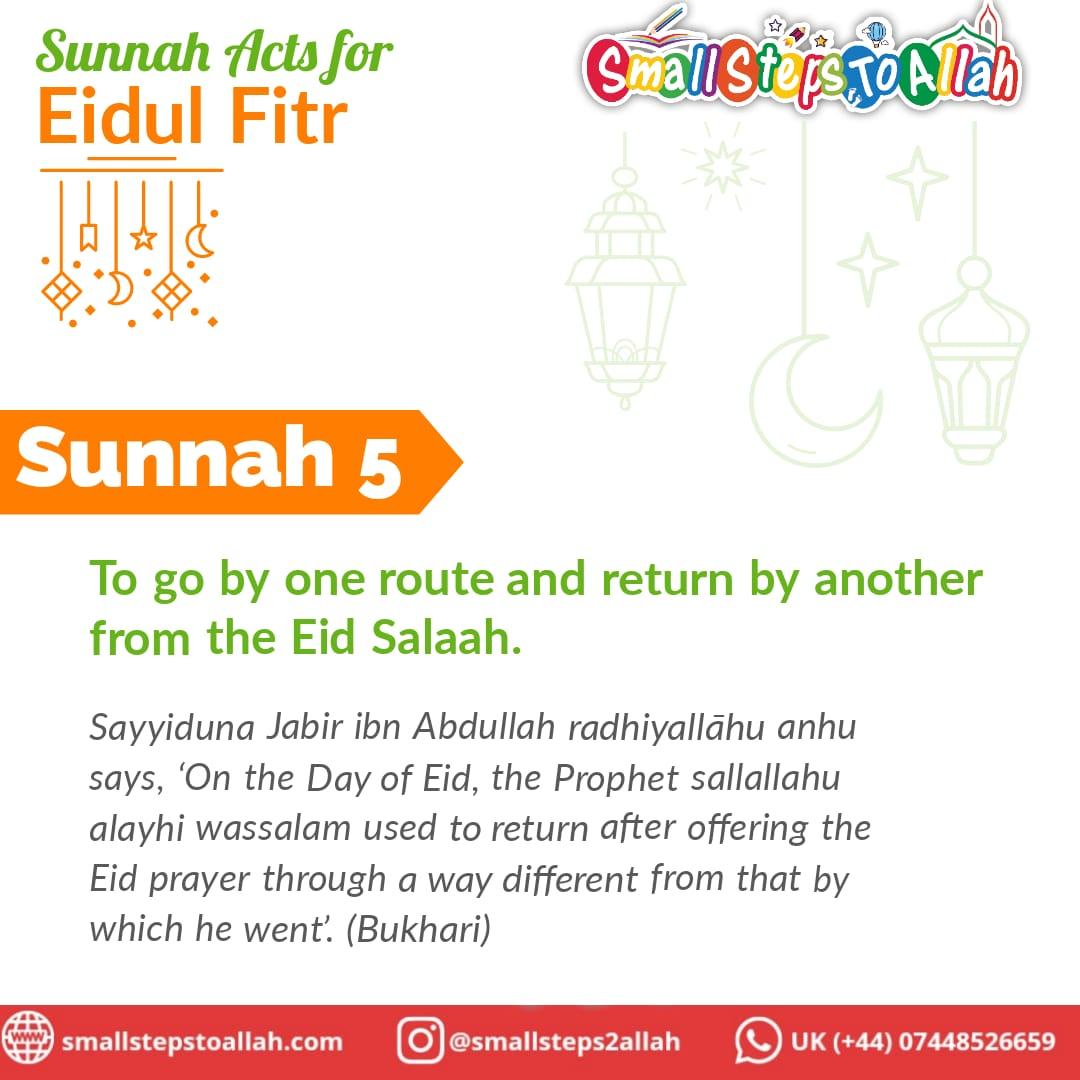 Sunnah 5 Eidul Fitr