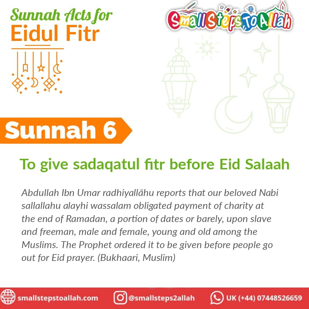 Sunnah 6 Eidul Fitr