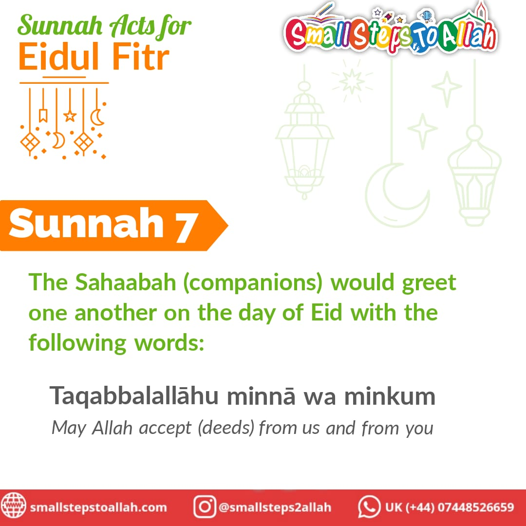 Sunnah 7 Eidul Fitr