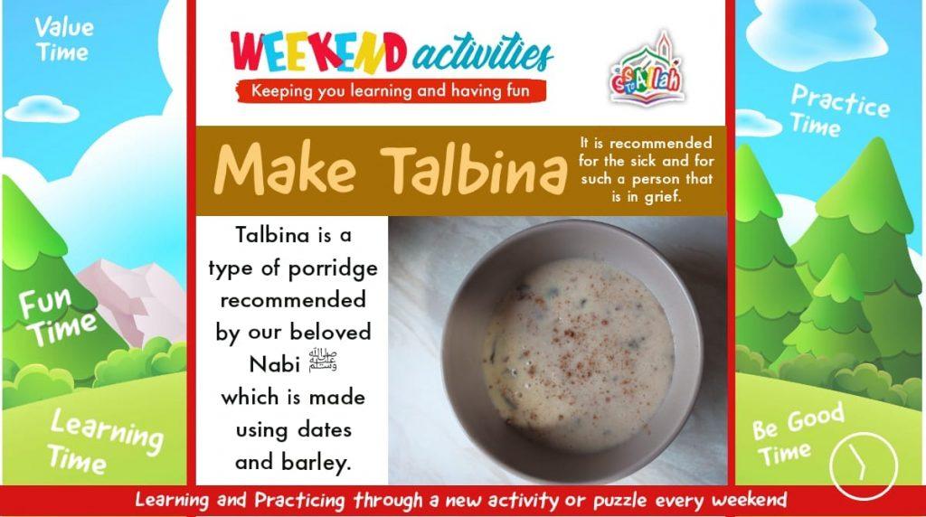 29. Weekend Activity – Make Talbina